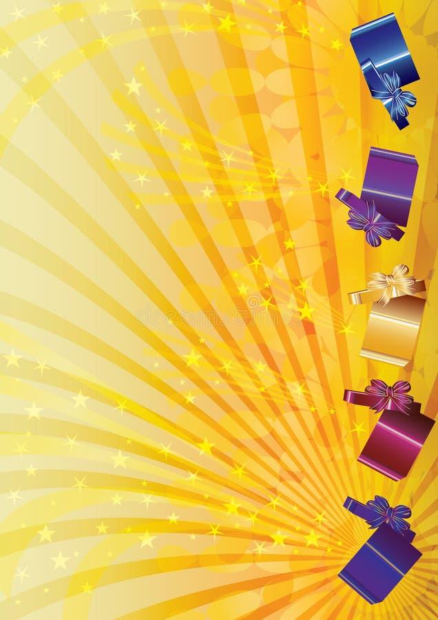 slående stjärnor för askeps-gåva stock illustrationer