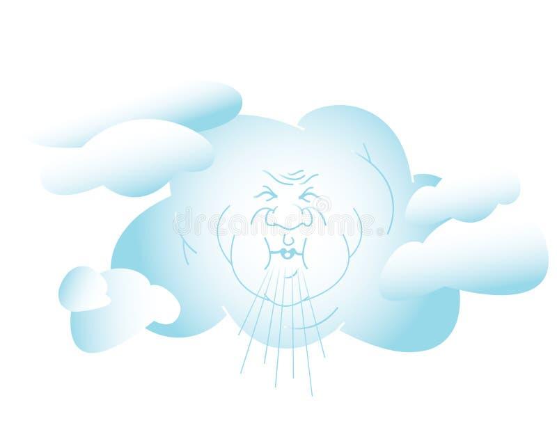 slående wind royaltyfri illustrationer