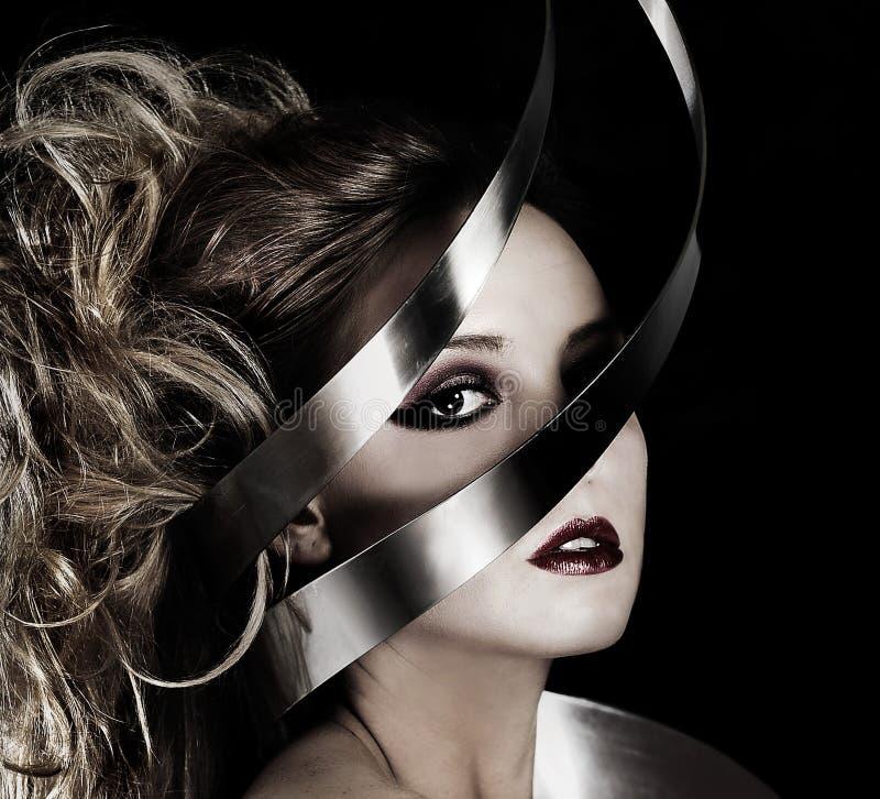 slågen in silver fotografering för bildbyråer