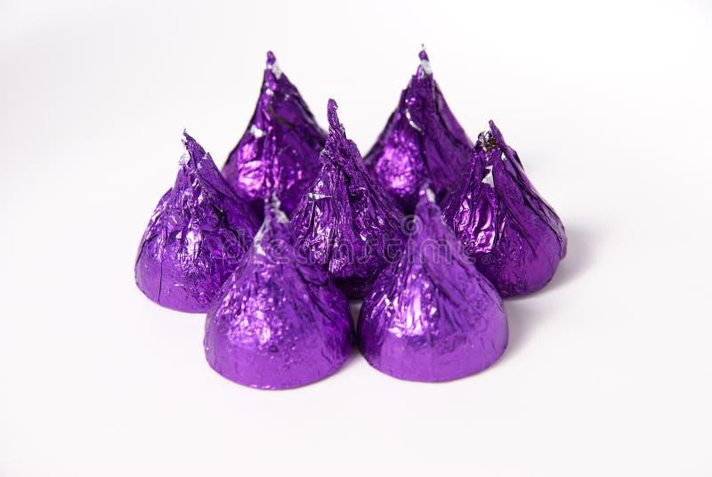 slågna in choklader royaltyfria bilder