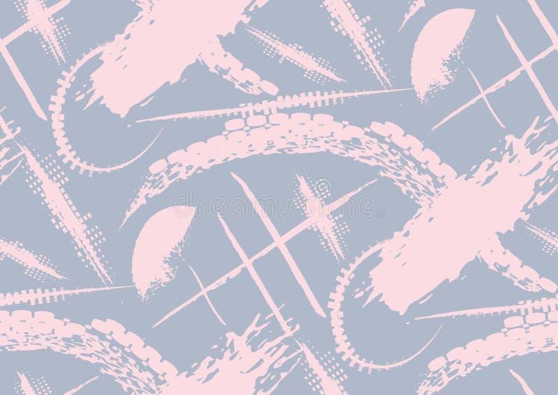 Slår den sömlösa modellen för vektorn med handen drog texturerade borsten och den målade bandhanden stock illustrationer