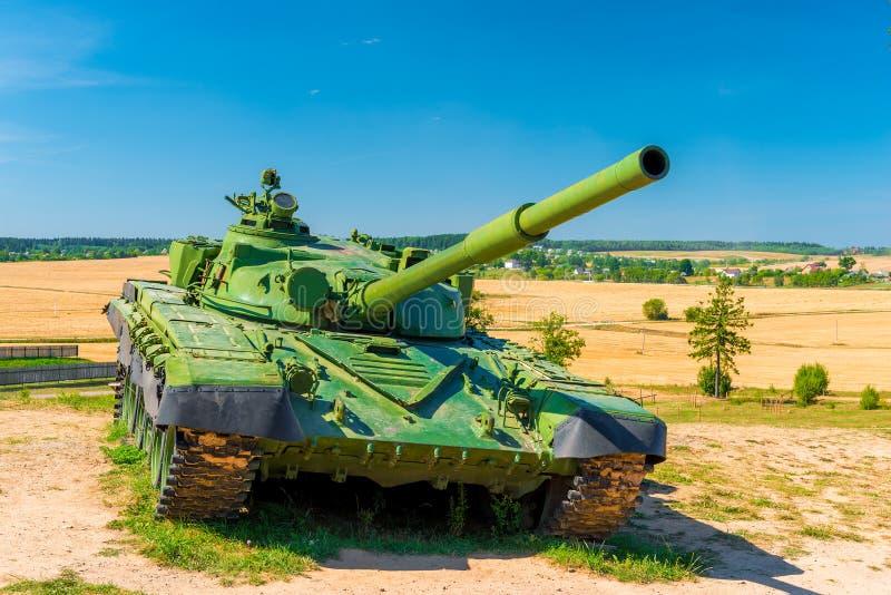 Slåss grön färg för behållare T-72 royaltyfria bilder