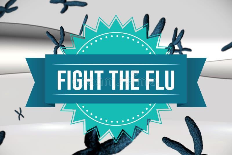 Slåss influensadesignen royaltyfri illustrationer