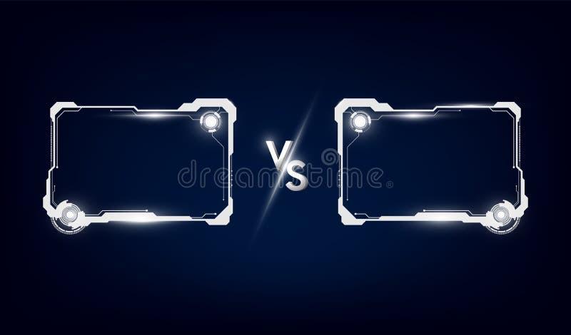 Slåss vs matchen, det modiga begreppet som är konkurrenskraftigt vs också vektor för coreldrawillustration royaltyfri illustrationer