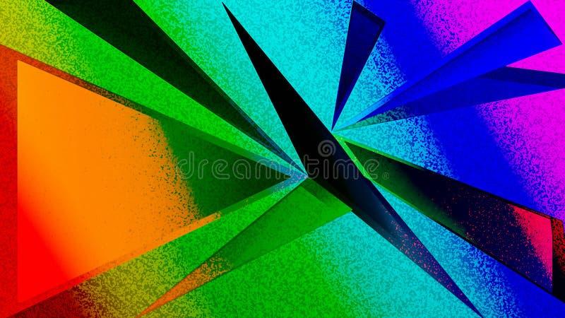 Slö abstrakt texturbakgrund för triangel stock illustrationer