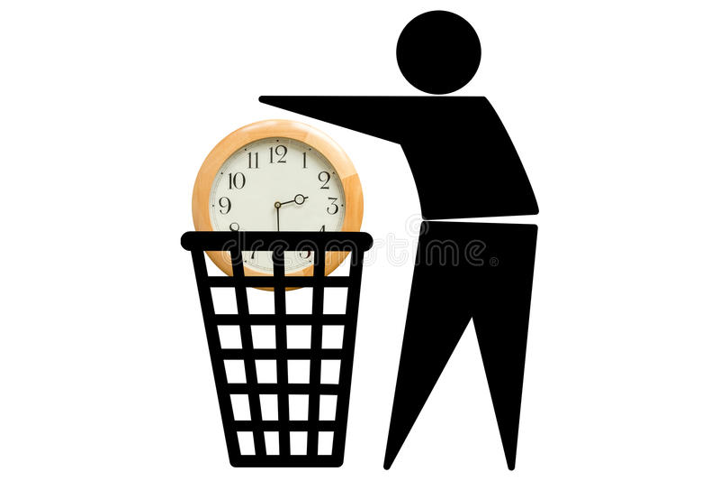 Slös bort tiden royaltyfri illustrationer