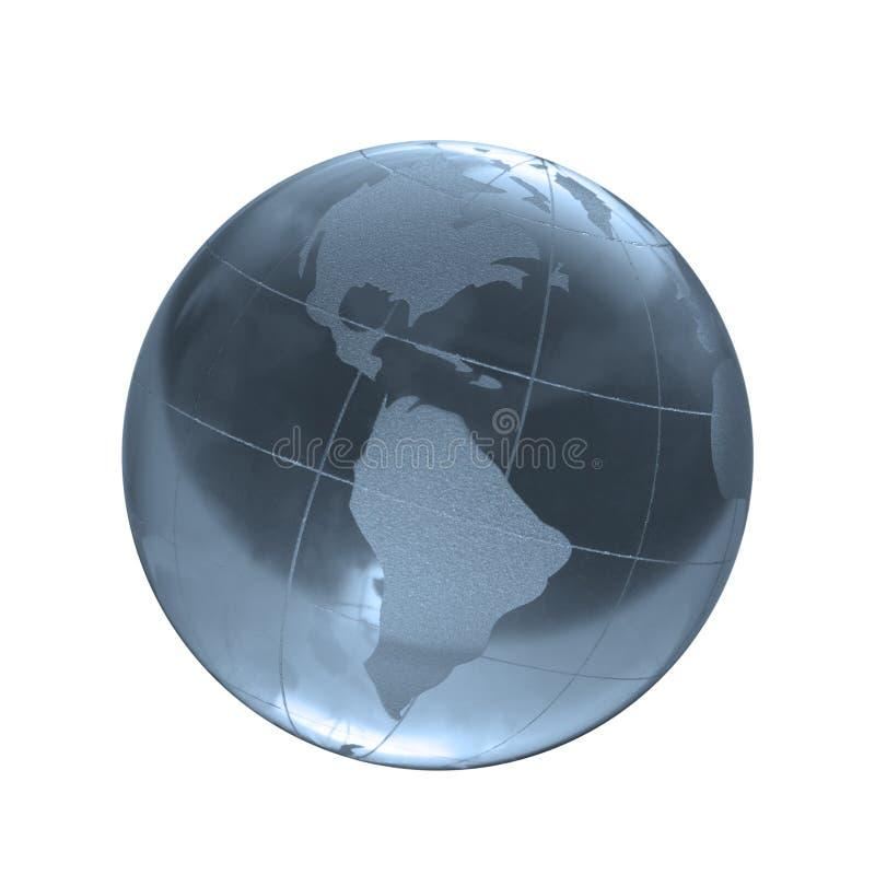Slösa det glass jordklotet arkivbilder