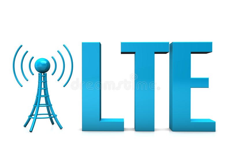 LTE-antenn vektor illustrationer