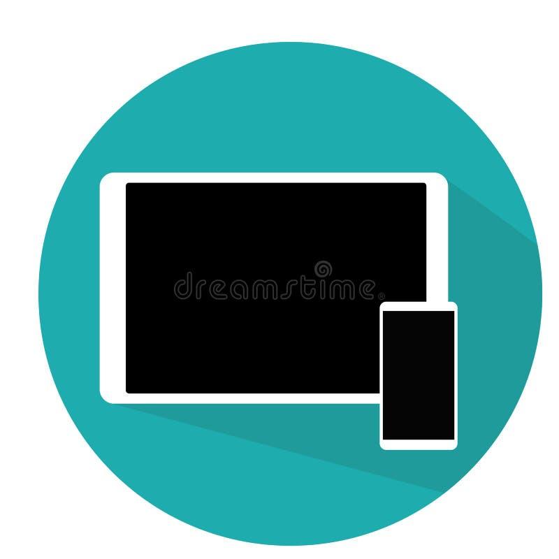 Slösar den plana moderna designen för minnestavlan och för telefonen bakgrund vektor illustrationer