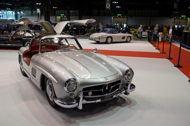 300SL Celebration Milano Autoclassica 2014 stock image