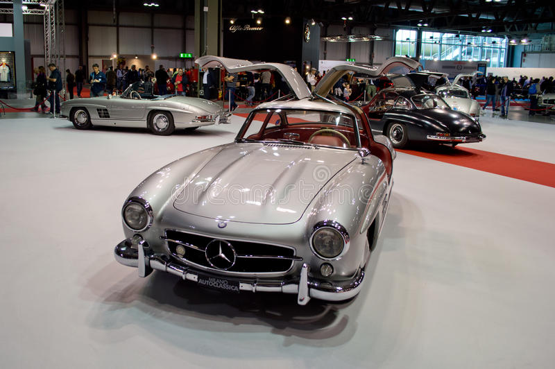 300SL Celebration Milano Autoclassica 2014 stock photo