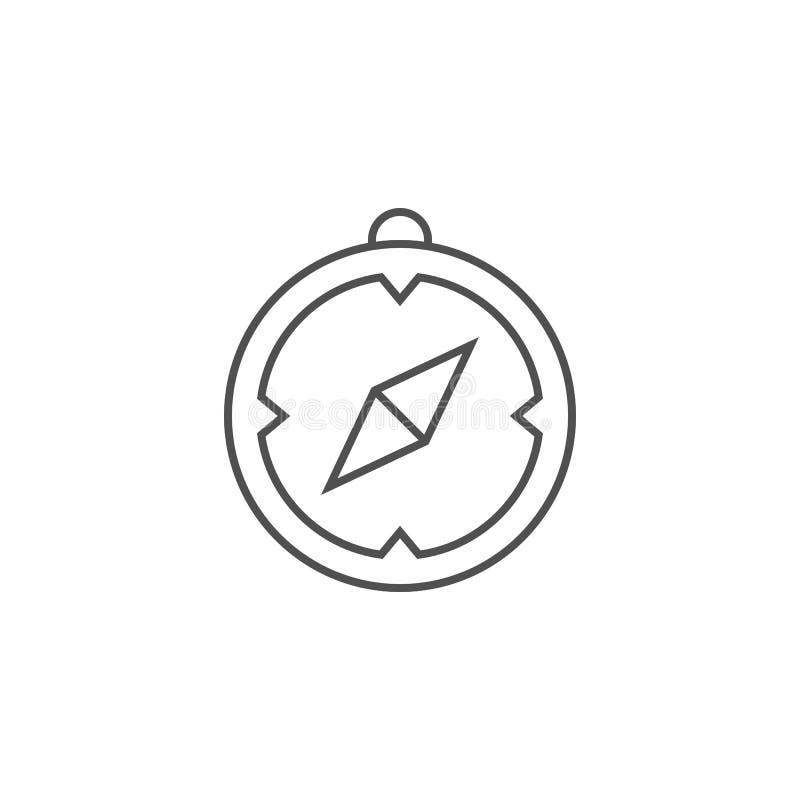 Sl?kt vektorlinje symbol f?r kompass stock illustrationer