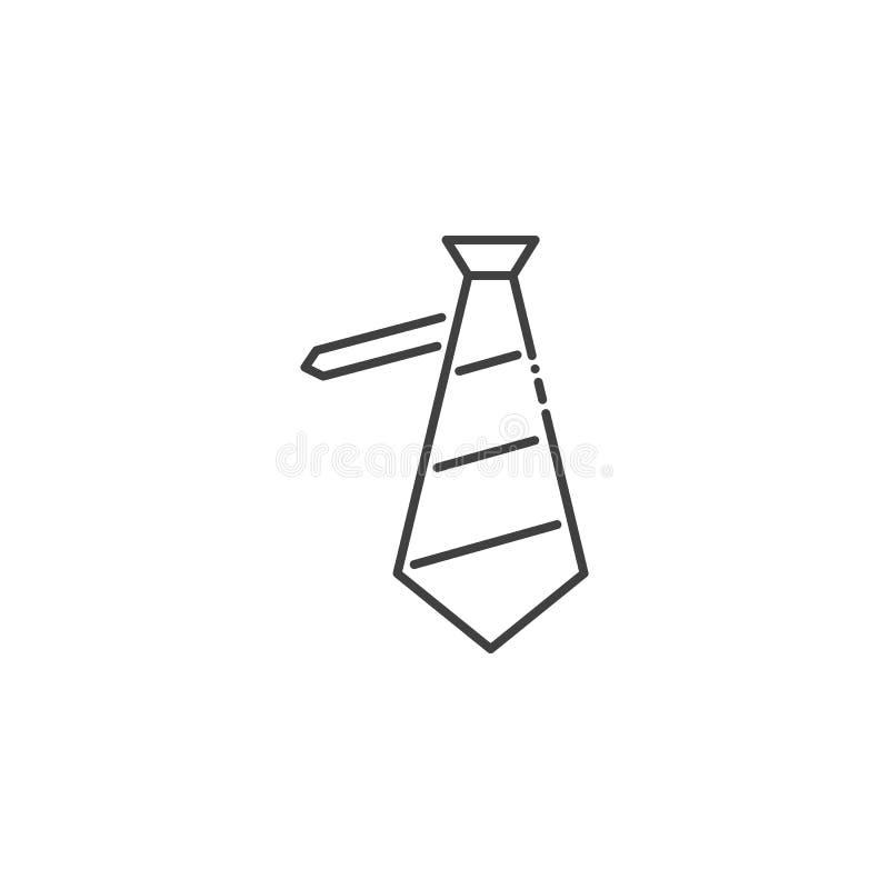 Sl?kt vektorlinje symbol f?r slips stock illustrationer