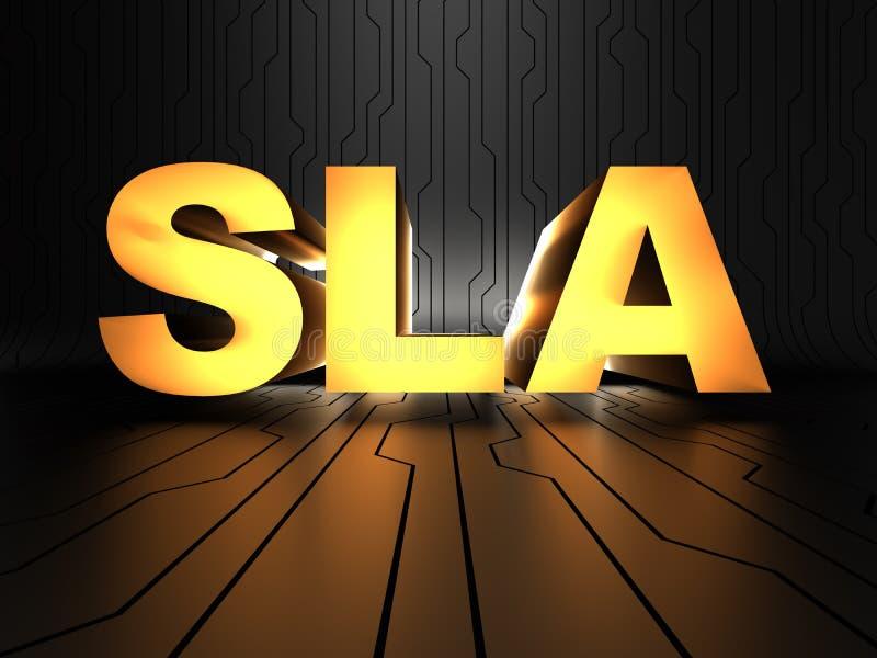 Sla Service Level Agreement Stock Illustration Illustration Of