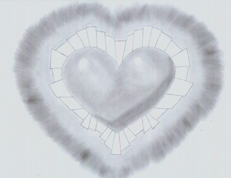 Sla van zwart hart royalty-vrije stock fotografie