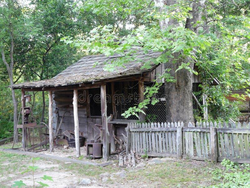 Slaaf Cabin bij Oom Remus Museum stock afbeeldingen