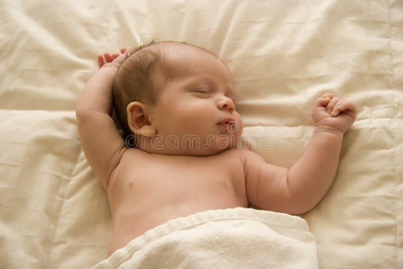In slaap royalty-vrije stock fotografie