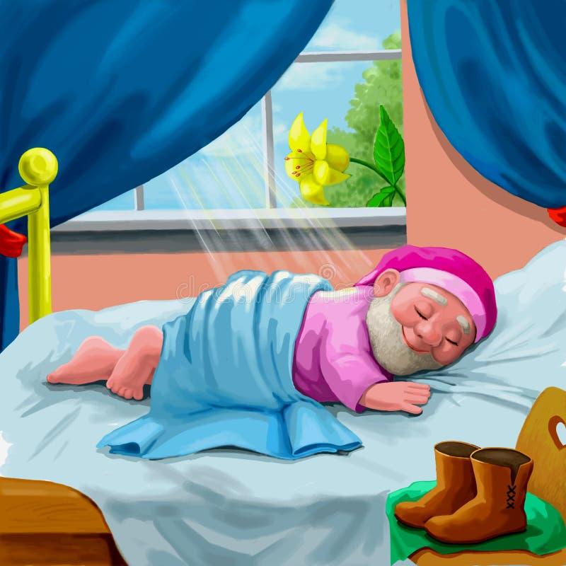 In slaap gnoom royalty-vrije illustratie