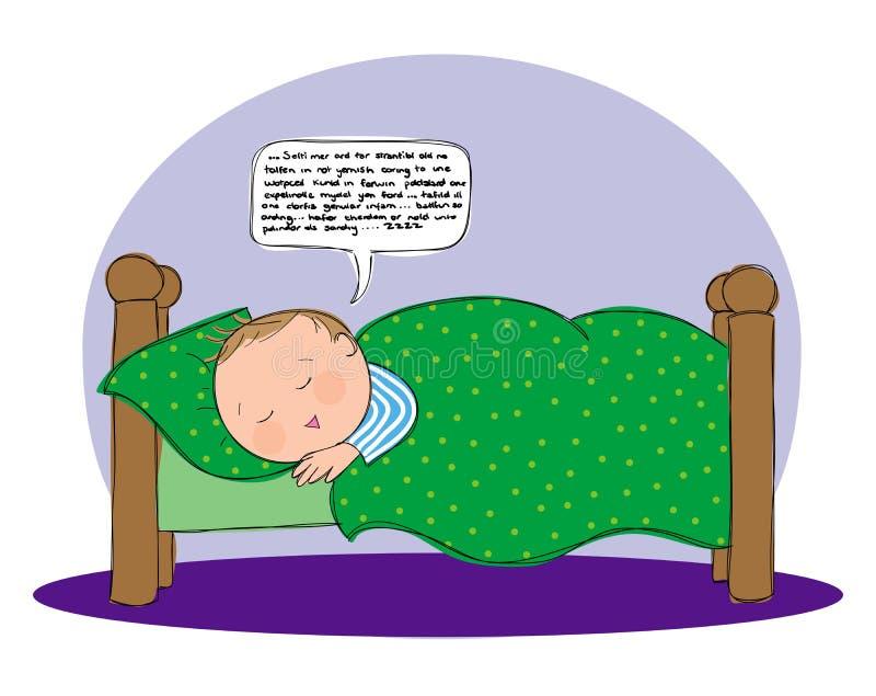Slaap het Spreken royalty-vrije illustratie