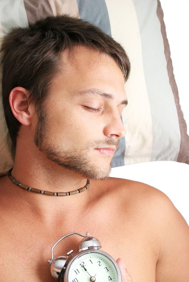 In slaap mens royalty-vrije stock fotografie