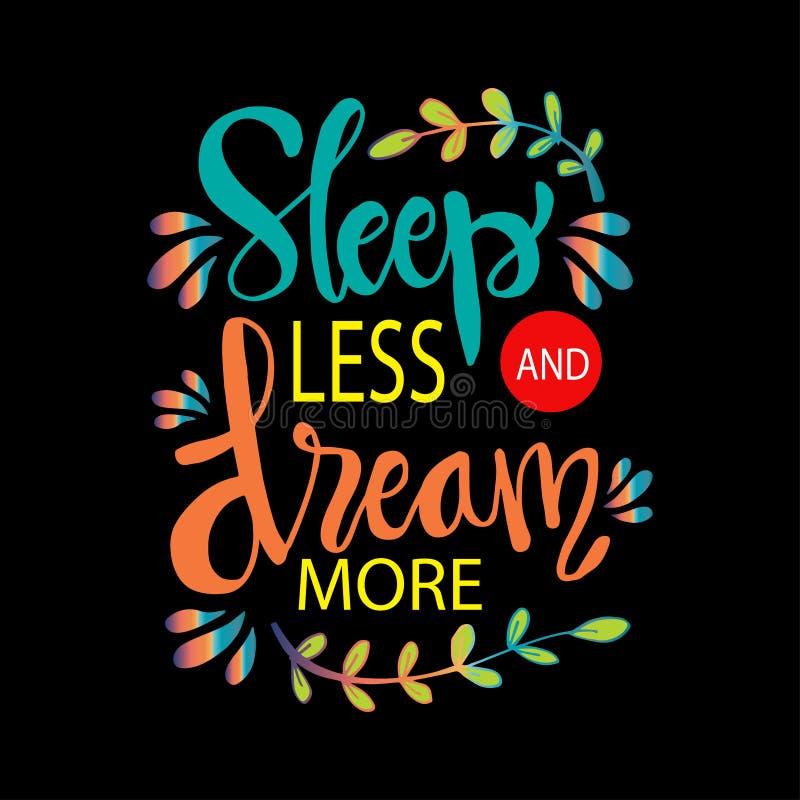 Slaap Minder Droom meer vector illustratie