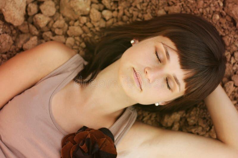In slaap schoonheidsvrouw royalty-vrije stock fotografie
