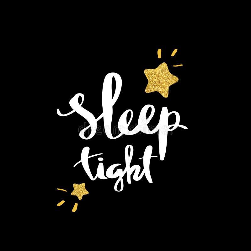 Slaap vast Het van letters voorzien voor affiche vector illustratie