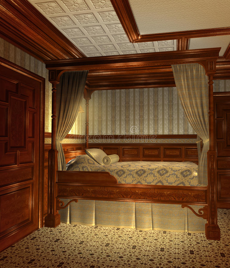 Slaapkamer 1 van de fantasie royalty-vrije illustratie