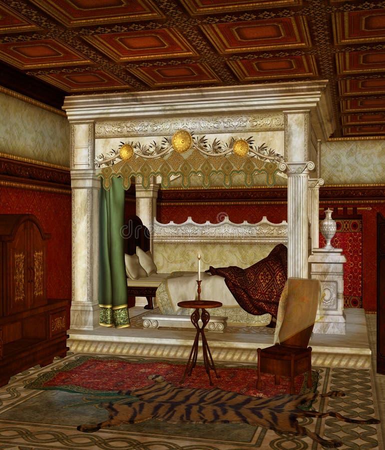 Slaapkamer 5 van de fantasie stock illustratie