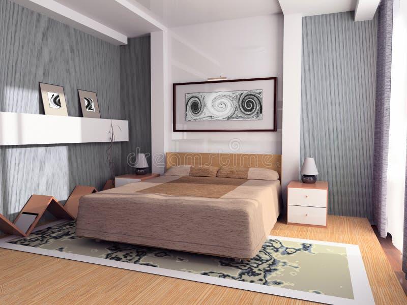 Slaapkamer stock illustratie