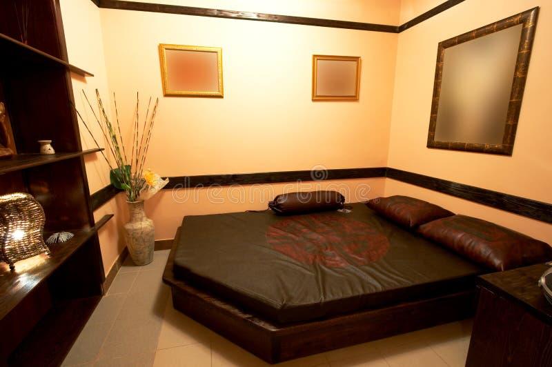 Slaapkamer in de Japanse stijl stock foto's