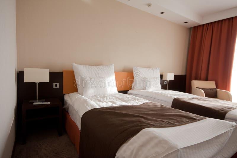 Slaapkamer in een hotel royalty-vrije stock foto