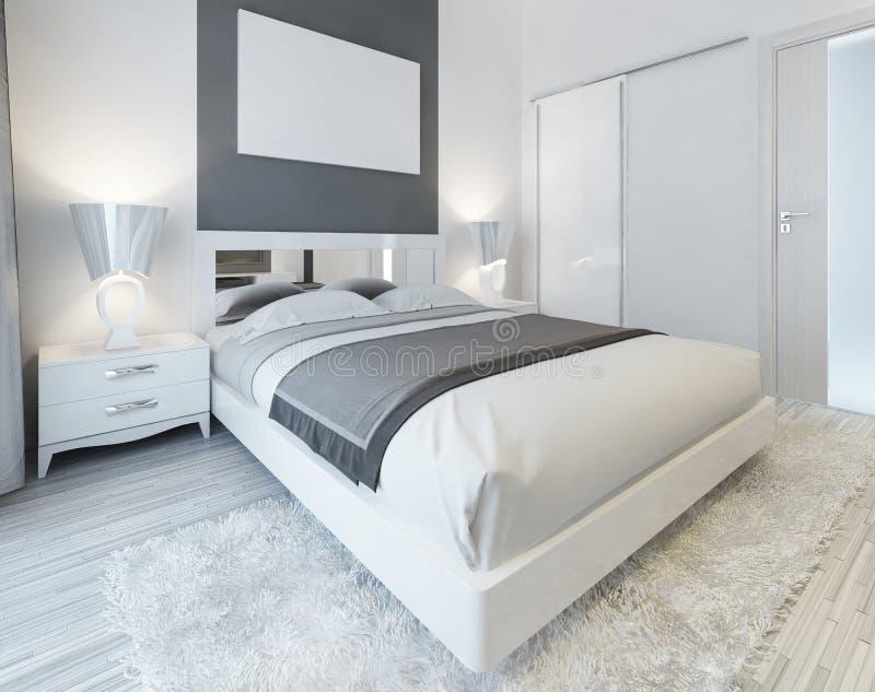 Slaapkamer in eigentijdse stijl stock illustratie