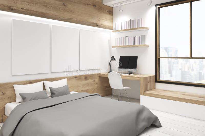Slaapkamer met beeldgalerij, hoek stock illustratie