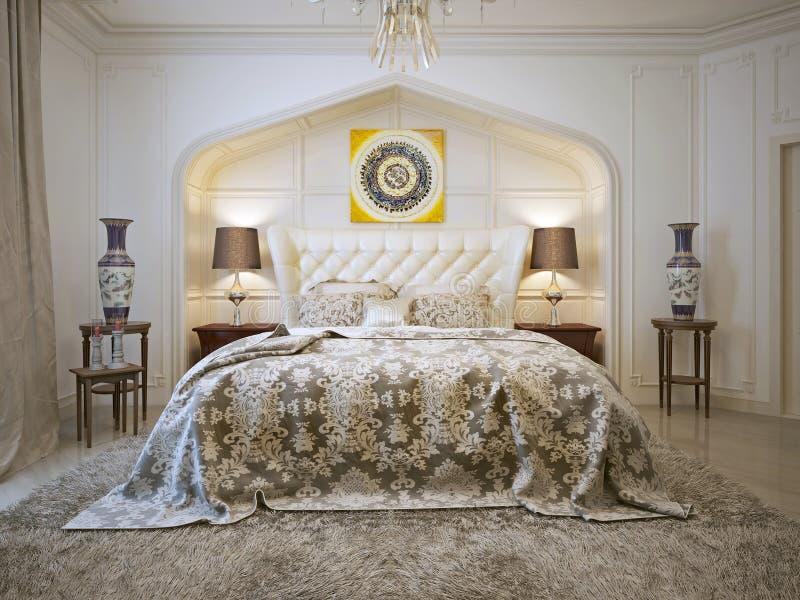 Slaapkamer oosterse stijl stock illustratie. Illustratie bestaande ...