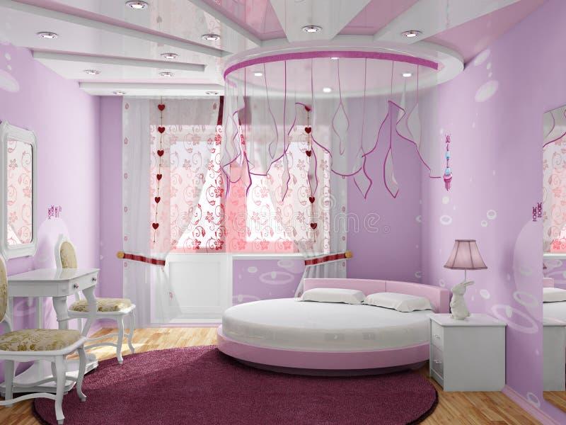 Slaapkamer voor het meisje stock illustratie