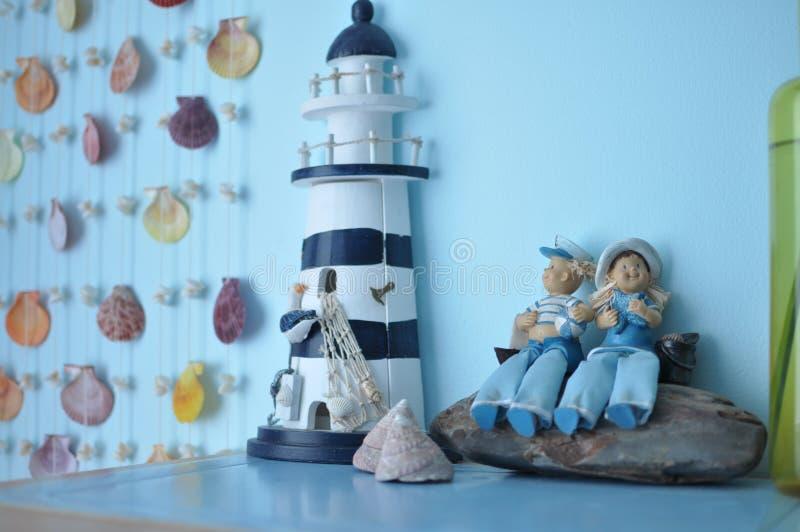 Slaapkamerdecoratie stock fotografie