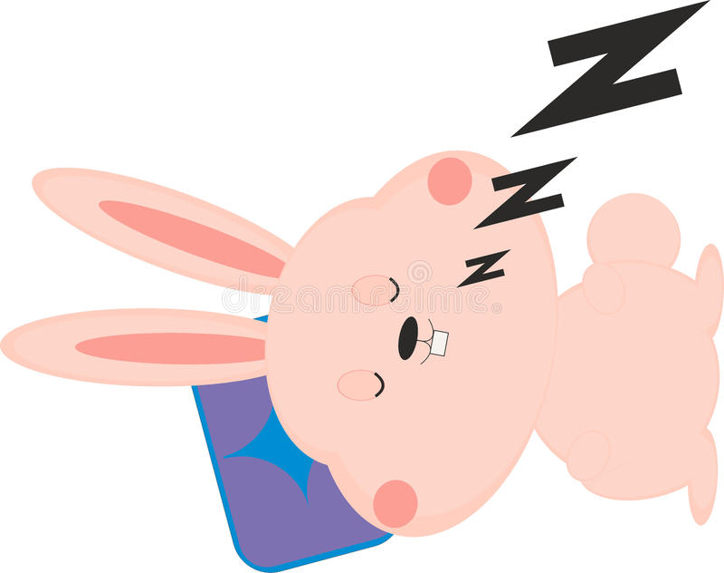 Slaapkonijntje stock illustratie