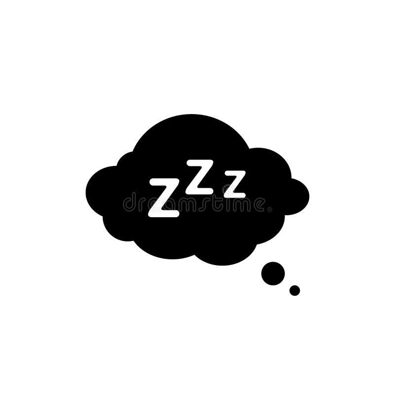Slaaprust pictogram in vlakke stijl Slaapsymbool voor uw websiteontwerp, embleem, app, UI-Vector vector illustratie