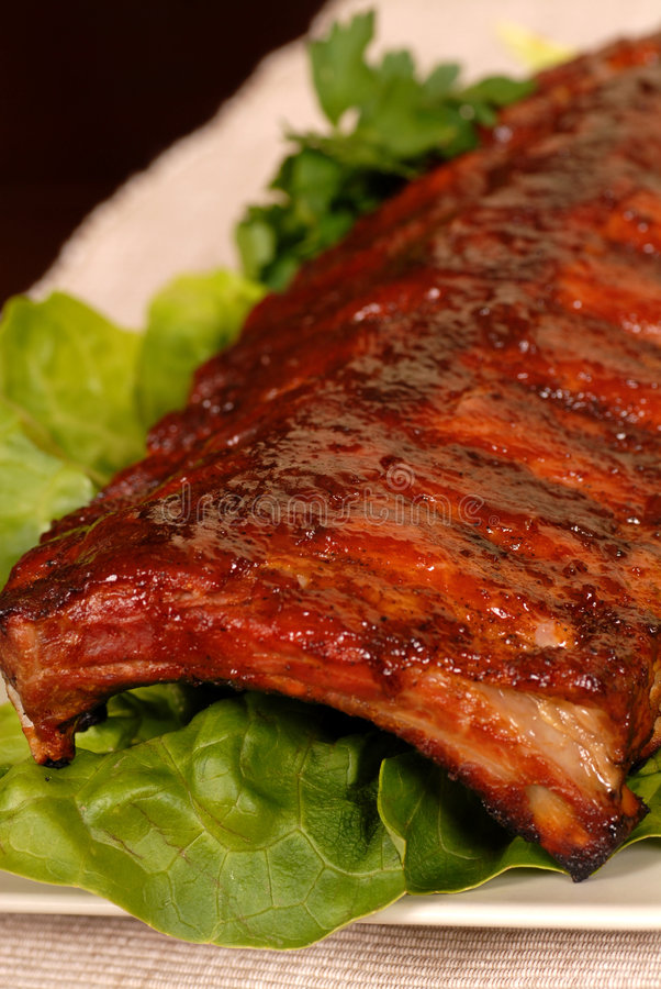 Free Slab Of Barbeque Ribs Stock Photos - 2419073