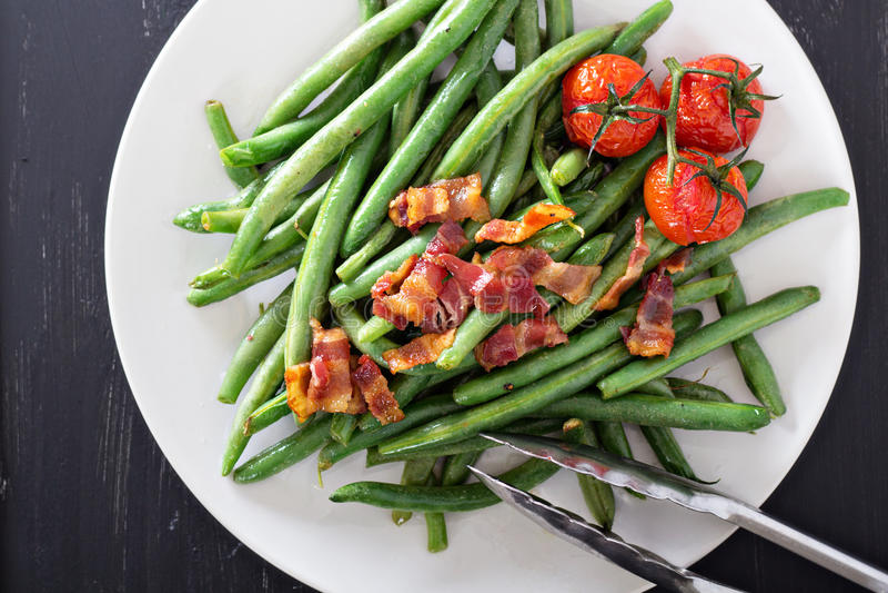 Slabonen met bacon stock foto