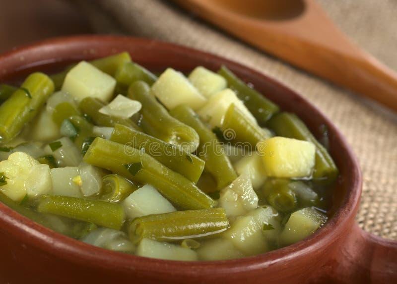 Slaboon en Aardappel Hotpot stock afbeeldingen