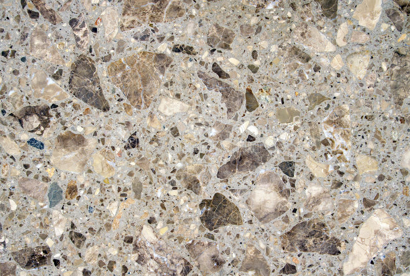 Slabs with pieces of stone closeup. In sunny day stock image