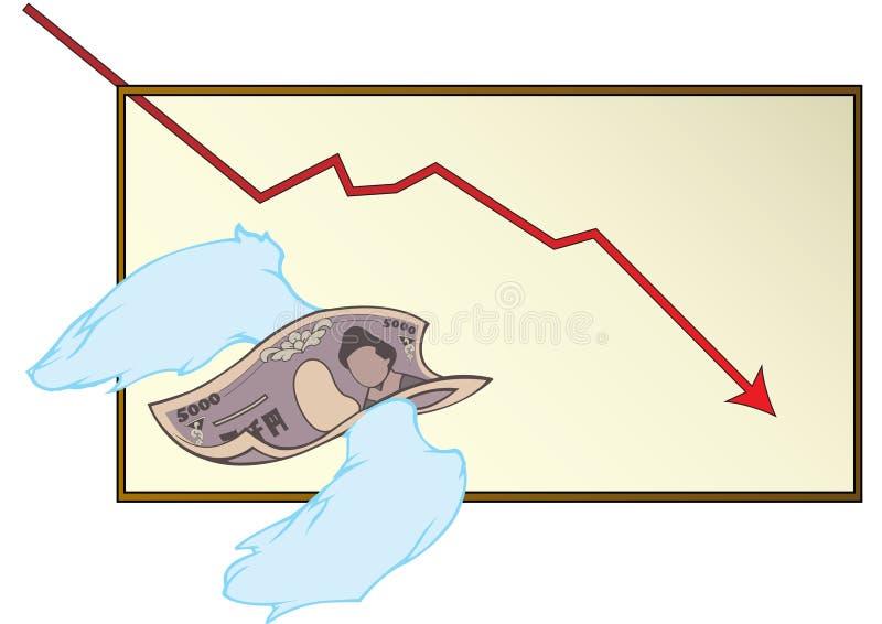 Slacciare soldi illustrazione vettoriale