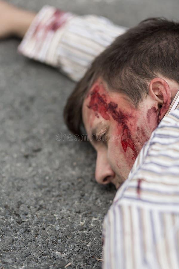 Slachtoffer van terroristische aanslag royalty-vrije stock foto's