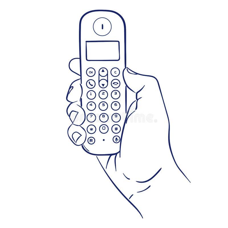 sladdlös handtelefon royaltyfri illustrationer