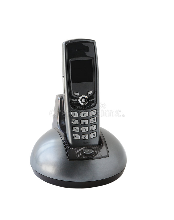 Sladdlös telefon arkivfoto