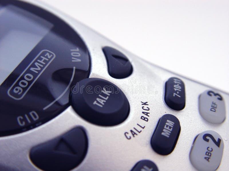 Sladdlös Telefon För Closeup Royaltyfria Foton