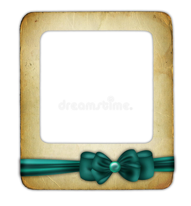 Free Slade For Photo With Green Ribbon Isolated Stock Photography - 11209172