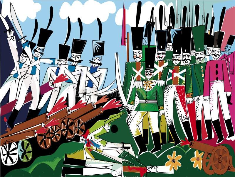 Slag royalty-vrije illustratie